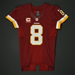 Cousins, Kirk<br>Burgundy - worn January 1, 2017 vs. New York Giants  w/ Captains C<br>Washington Redskins 2016<br>#8 Size:40 Q-BK