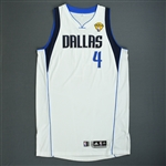 Butler, Caron * <br>White Finals Game-Issued (GI)<br>Dallas Mavericks 2010-11<br>#4 Size: XXL