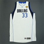 Haywood, Brendan * <br>White Finals Game-Issued (GI)<br>Dallas Mavericks 2010-11<br>#33 Size: 4XL+4