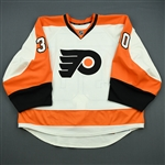 Bryzgalov, Ilya<br>White Set 3 Playoffs<br>Philadelphia Flyers 2011-12<br>#30 Size: 58G