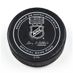 Columbus Blue Jackets Game-Used Puck<br>December 29, 2015 vs. Dallas Stars (Blue Jackets Logo)<br>Columbus Blue Jackets 2015-16
