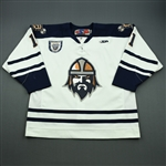 Gongalsky, Igor<br>White Set 1, Inaugural Season Patch<br>Greenville Road Warriors 2010-11<br>#11 Size: 56