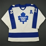 Salming, Borje * <br>White w/A<br>Toronto Maple Leafs 1985-86<br>#21