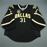 Bachman, Richard<br>Black Set 1 w/ 20th Anniversary Patch<br>Dallas Stars 2012-13<br>#31