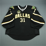 Bachman, Richard<br>Black Set 2 w/ 20th Anniversary Patch<br>Dallas Stars 2012-13<br>#31