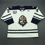 Schepke, Matt<br>White Set 1, Inaugural Season Patch<br>Greenville Road Warriors 2010-11<br>#24 Size: 56