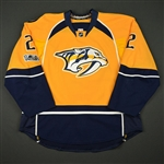 Bitetto, Anthony<br>Gold Set 2 w/ NHL Centennial Patch<br>Nashville Predators 2016-17<br>#2 Size: 56