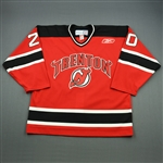 Kang, Matthew<br>Red Set 1<br>Trenton Devils 2010-11<br>#20 Size: 54