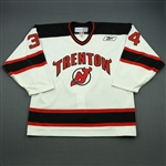 Prough, Jeff<br>White Set 1<br>Trenton Devils 2010-11<br>#34 Size: 54