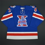 Callahan, Ryan * <br>Blue, Tenth Anniversary Crest Alternate<br>Hartford Wolf Pack 2006-07<br>#24 Size: 56