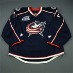 Bobrovsky, Sergei<br>Blue Set 2 & 3 w/All-Star Game Patch<br>Columbus Blue Jackets 2014-15<br>#72 Size: 58G