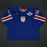 Hull, Brett * <br>1932 Throwback, World Cup of Hockey, Autographed<br>Team USA 2004<br>#16 Size: 56