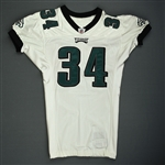 Buckley, Eldra<br>White<br>Philadelphia Eagles 2009<br>#34 Size: 46 SKILL