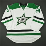 Benn, Jordie<br>White Set 1 - Game-Issued (GI)<br>Dallas Stars 2016-17<br>#24 Size: 58