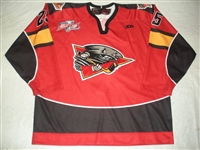 DeLory, James<br>Red Set 1 w/ Kelly Cup Champions Patch<br>Cincinnati Cyclones 2010-11<br>#25