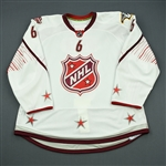 Weber, Shea<br>White Set 2 of 3 - Game-Issued (GI) before Fantasy Draft<br>All Star 2010-11<br>#6 Size: 58