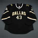 Beaudoin, Mathieu<br>Black Set 1 - Preseason Only<br>Dallas Stars 2009-10<br>#43 Size: 56