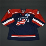 DiPietro, Rick * <br>Blue, World Cup of Hockey, Game-Issued, Autographed<br>Team USA 2004<br>#29 Size: 58G