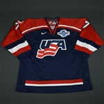 Tkachuk, Keith * <br>Blue, World Cup of Hockey, Pre-Tournament Worn, Autographed<br>Team USA 2004<br>#7 Size: 58