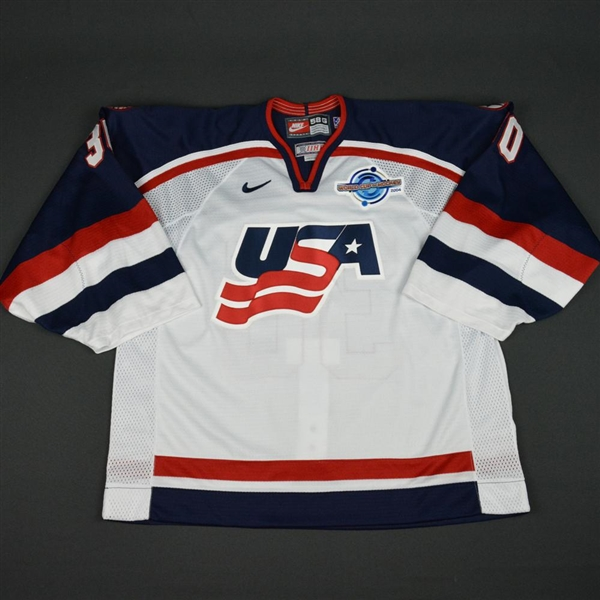 Conklin, Ty * <br>White, World Cup of Hockey, Pre-Tournament Worn, Autographed<br>Team USA 2004<br>#30 Size: 58G