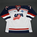 Hull, Brett * <br>White, World Cup of Hockey, Pre-Tournament Worn, Autographed<br>Team USA 2004<br>#16 Size: 56