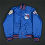 Blue Nylon Cosby Jacket - CLEARANCE<br>New York Rangers <br>Size: Large