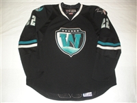 Kaspar, Lukas * <br>Black Set 1<br>Worcester Sharks 2007-08<br>#22 Size: 58