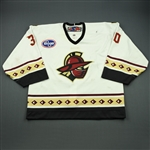 Carrozzi, Chris<br>White Set 1<br>Gwinnett Gladiators 2010-11<br>#30 Size: 58G