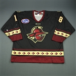 Miller, Tim<br>Black Set 1<br>Gwinnett Gladiators 2010-11<br>#18 Size: 56