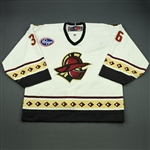 Sauer, Billy<br>White Set 1<br>Gwinnett Gladiators 2010-11<br>#36 Size: 58G