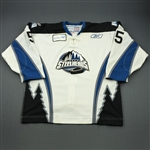 Irwin, Geoff<br>White Set 1<br>Idaho Steelheads 2010-11<br>#15 Size: 56