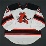 Caruso, Dave<br>White (RBK 1.0)<br>Lowell Devils 2007-08<br>#35 Size: 58G