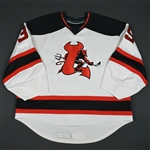 Caruso, Dave<br>White (RBK 1.0)<br>Lowell Devils 2007-08<br>#35 Size: 58 G