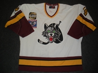 Lawrence, Mark * <br>White, w/Turner Cup Patch<br>Chicago Wolves 2000-01<br>#24 Size: 56