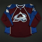 Durno, Chris * <br>Burgundy Set 1 - NHL Debut<br>Colorado Avalanche 2008-09<br>#45 Size: 58
