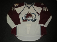 Anderson, Craig<br>White Set 3 - Game-Issued (GI)<br>Colorado Avalanche 2010-11<br>#41 Size: 58G
