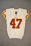 Davis, Akeem<br>White Regular Season<br>Washington Redskins 2014<br>#47 Size: 42 SKILL