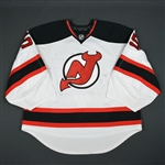 Appleby, Ken<br>White Set 1 - Training Camp Only<br>New Jersey Devils 2015-16<br>#55 Size: 58G
