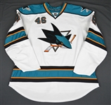 Iggulden, Mike * <br>White -NHL Debut -Photo-Matched<br>San Jose Sharks 2007-08<br>#46 Size: 58