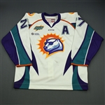 Keenan, Mike<br>White Set 1  w/A<br>Orlando Solar Bears 2014-15<br>#27 Size:56