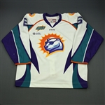 McAvoy, Spencer<br>White Set 1<br>Orlando Solar Bears 2014-15<br>#6 Size: 56