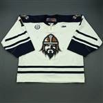 Courchaine, Adam<br>White Set 1<br>Greenville Road Warriors 2012-13<br>#1 Size: 58G