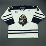 Flanigan, Ryan<br>White Set 1<br>Greenville Road Warriors 2012-13<br>#46 Size: 54