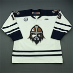 Gouchie, Jeremy<br>White Set 1<br>Greenville Road Warriors 2012-13<br>#19 Size: 54