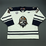 Haines, Kyle<br>White Set 1<br>Greenville Road Warriors 2012-13<br>#47 Size: 56