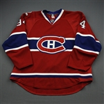 Pyatt, Tom * <br>Red Set 2/Playoffs - Centennial Patch<br>Montreal Canadiens 2009-10<br>#94 Size: 56