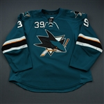Couture, Logan * <br>Teal<br>San Jose Sharks 2013-14<br>#39 Size: 56