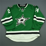 Benn, Jordie<br>Green Set 1<br>Dallas Stars 2014-15<br>#24 Size: 58