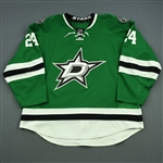 Benn, Jordie<br>Green Set 2<br>Dallas Stars 2014-15<br>#24 Size: 58