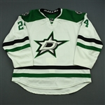 Benn, Jordie<br>White Set 3<br>Dallas Stars 2014-15<br>#24 Size: 58